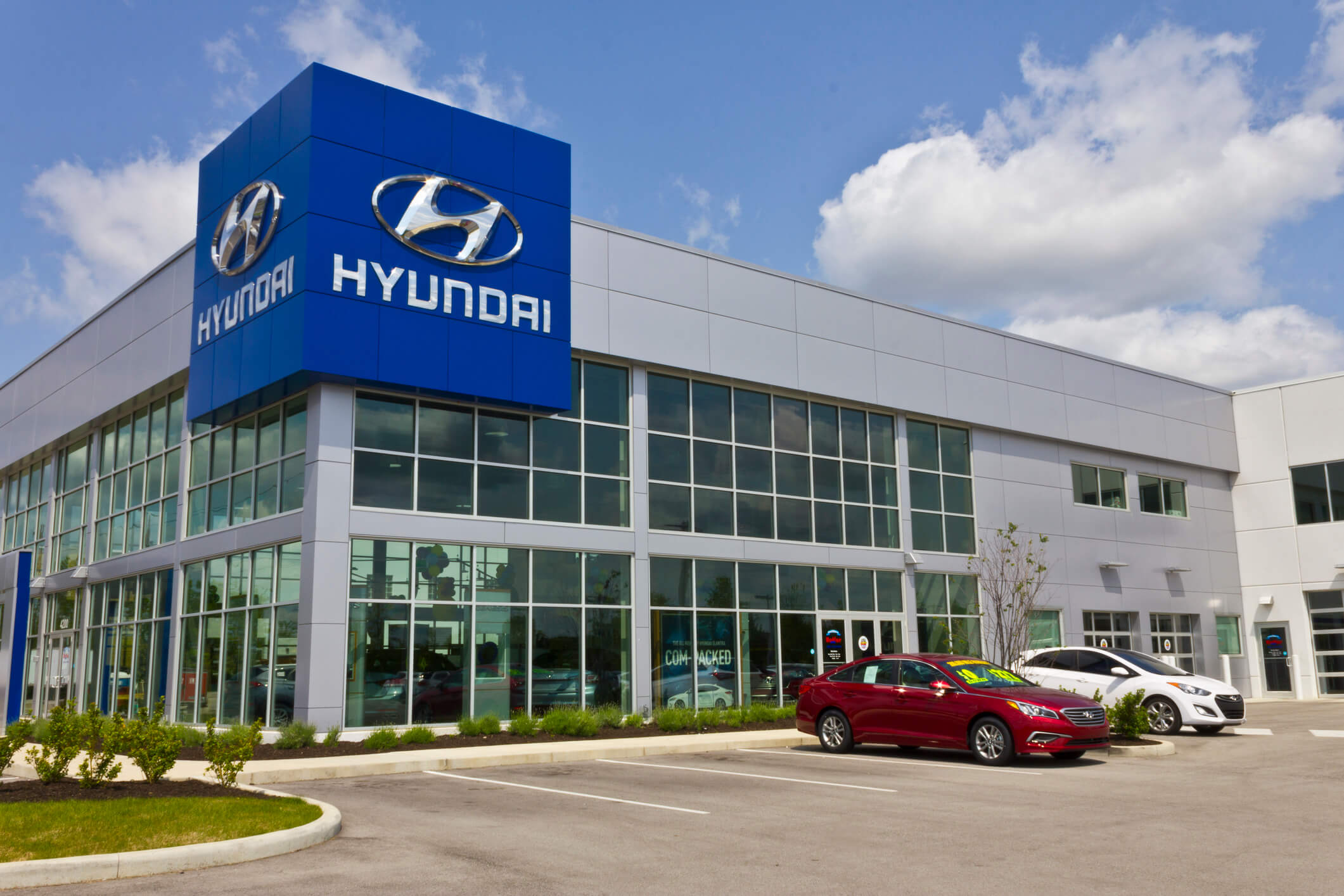 Hyundai store with cars that have the theta II engine.